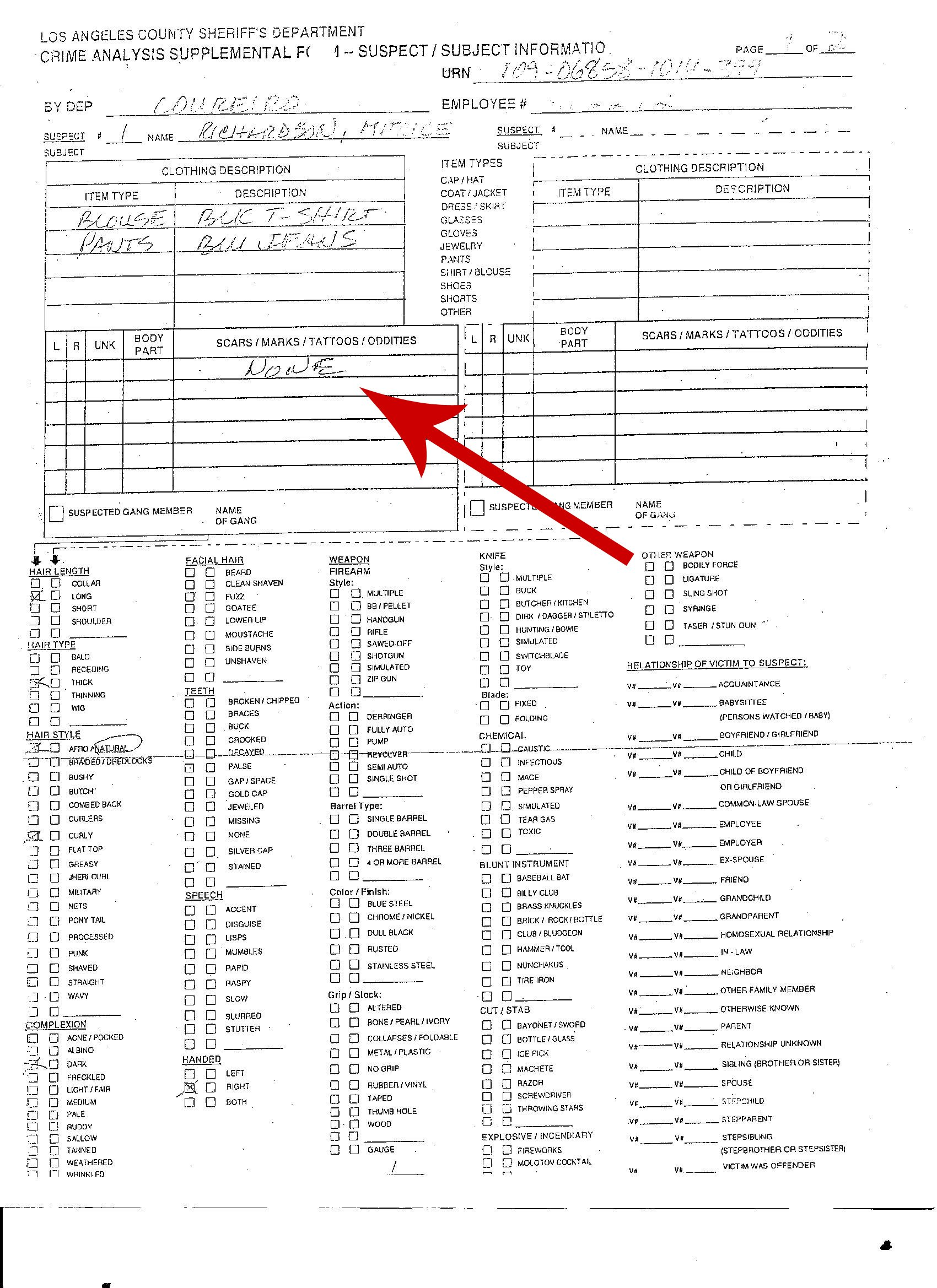 Examples of Police Reports http://www.bringmitricehome.org/The-Facts.html